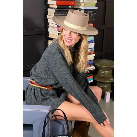 Ranch Wool Felt Hat for Women - Rigid & Medium Brim