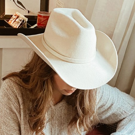 Sombrero Cowboy en 100% Fieltro de Lana - Sombreros Vaqueros Mujer