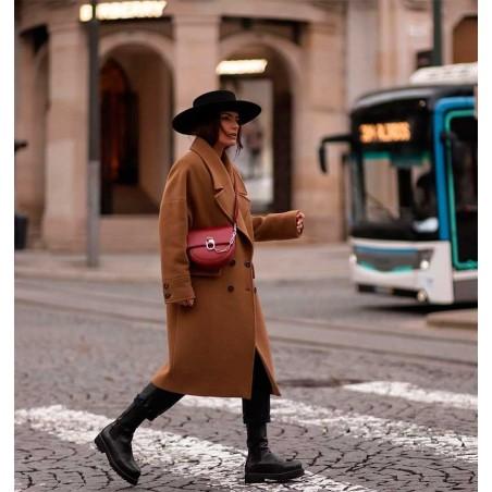 Sombrero Canotier Negro de Ala Ancha Florence