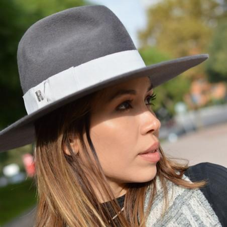 Sombrero Fedora Queen Gris