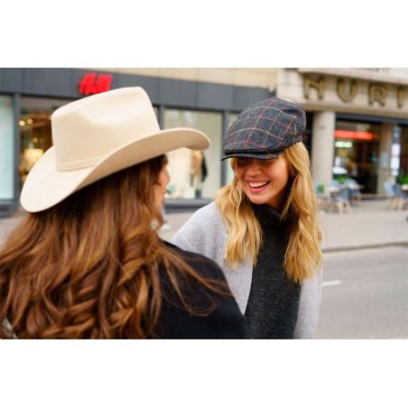 Dark Grey Flap Cap - Peaky Blinders for Women