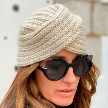 Diadema Turbante Pelo para Mujer color Beige
