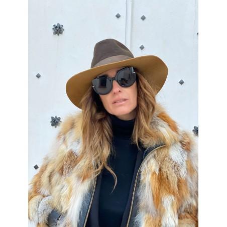 Queen Floppy Hat for Women Brown-Camel