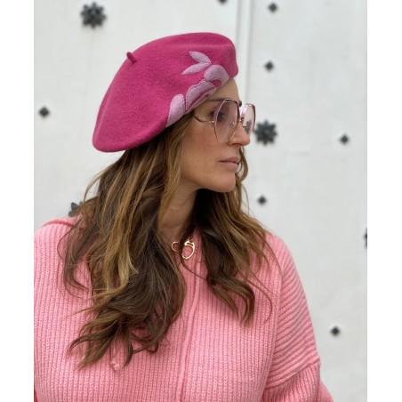 Boina Francesa Mujer en color Rosa Estilo Parisino