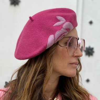 Collen Beret Pink Parisian Touch