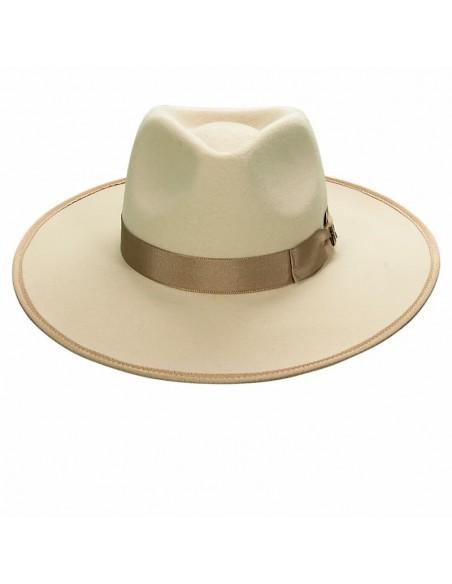 Sombrero de Novia Nuba Beige Fieltro de Lana Color Beige