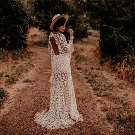 Nuba Beige Wool Felt Bridal Hat - Wool Felt - Wedding Hats