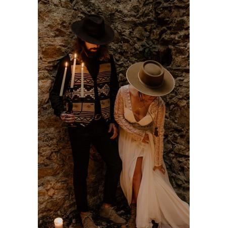 Billy Camel Wool Felt Bridal Hat