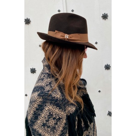 Brown Mission Hat for Women Short Wing