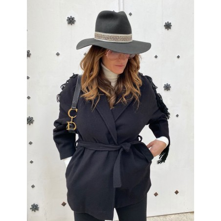 Queen Floppy Hat for Women Dark Grey
