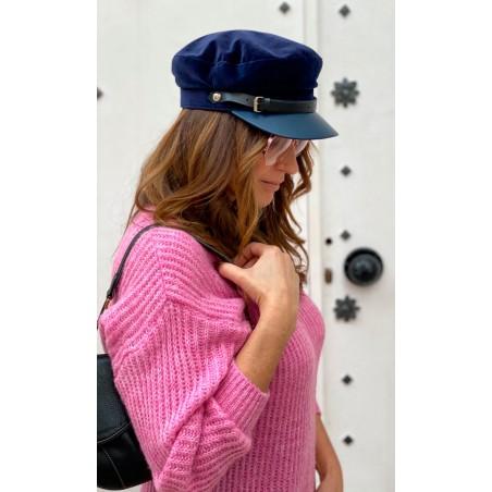 Gorra Marinera Mujer Azul Marino
