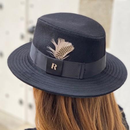 Memphis Wool Felt Hat Black for Women