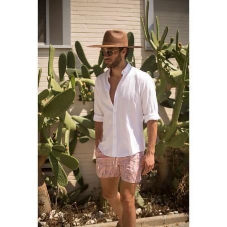 Sombrero Verano Hombre Color Café - Estilo Fedora