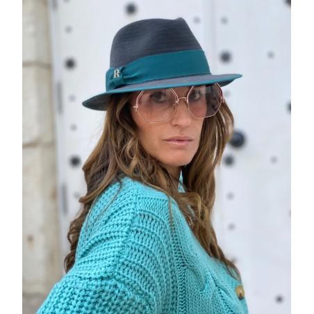 Harlem Hat Dark Grey for Women Short Brim