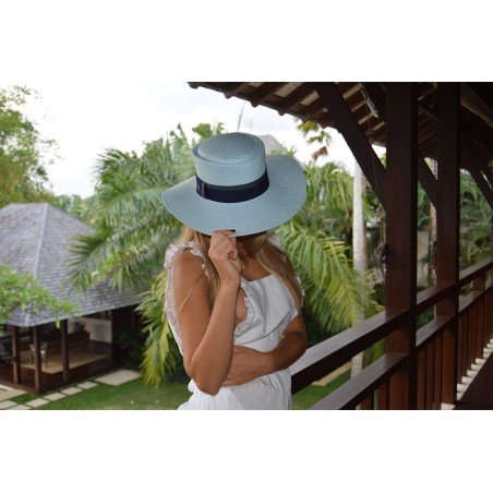 Straw Hat Acapulco Blue for Women - Summer Hats