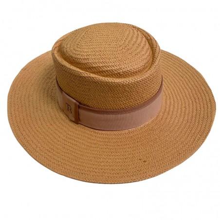 Sombrero de Paja de Papel en color Caramelo - Sombreros de Verano
