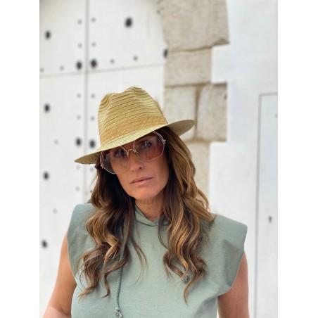 Sombrero Playa Mujer   Hombre - 100% Paja de Papel y hecho en España en color Natural