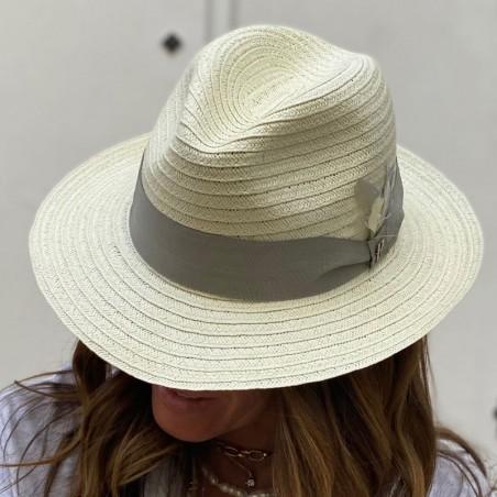 White Beach Hat for Women & Men - Summer Hats 100% Paper Straw
