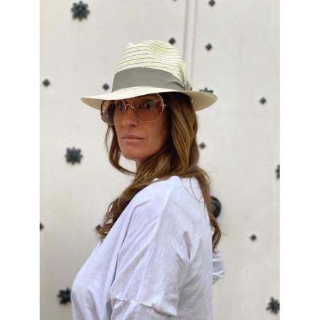 Sombrero Playa Mujer | Hombre en color Blanco - 100% Paja de Papel y hecho en España