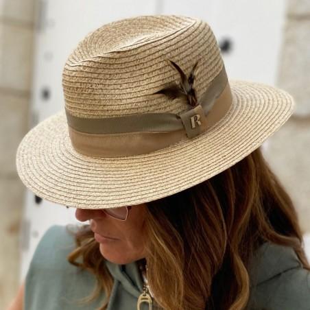 Sombrero Playa Mujer | Hombre - 100% Paja de Papel y hecho en España en color Natural
