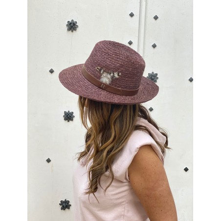 Straw Summer Hat Chocolate for Women & Men - Summer Hats 100% Natural Straw Made in Spain
