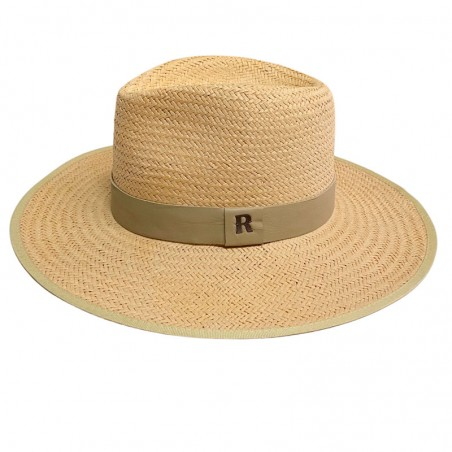 Sombrero Paja Florida Beige - Sombreros Verano - Estilo Fedora