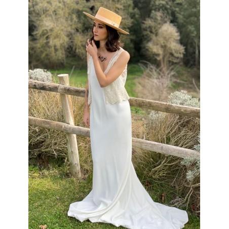 Padua Boater Panama Bridal Hat Camel - Panama Hats Boater Style