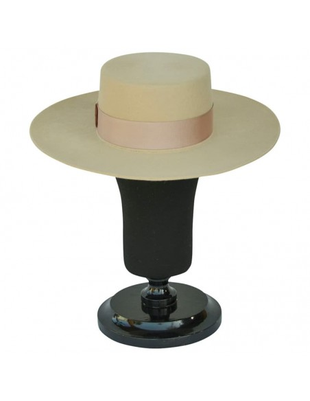 Sombrero de Novia Canotier Ala Ancha Florence - Sombreros para Boda - Especial Novias