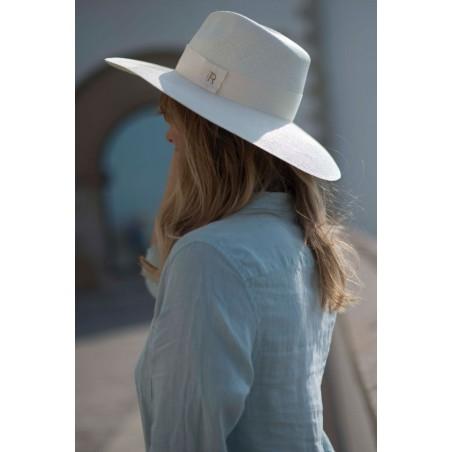 Sombrero de Novia Panamá Ala Ancha color Blanco Mujer - Sombrero Amplio de Mujer