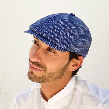 Rocky Cap Blue Mix Style Peaky Blinders