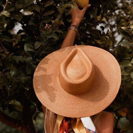 Palm Hat Wide-Brimmed - Fedora Style Amalfi