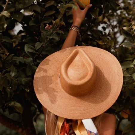 Sombrero de Palma Amalfi - Fedora Ala Ancha
