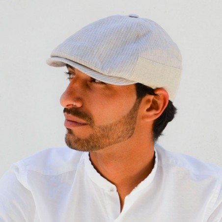 Archie Cap Cream Striped Style Peaky Blinders