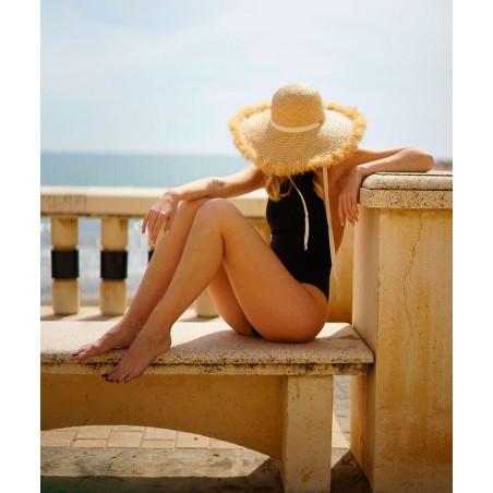 Pamela Straw Hat Natural Milos - Frayed Wide-Brimmed for Women