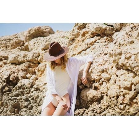Sombrero Panamá Mujer Paros Marrón - Sombreros de Verano