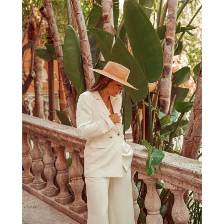 Bridal Hat Wide-Brimmed - Fedora Style Amalfi