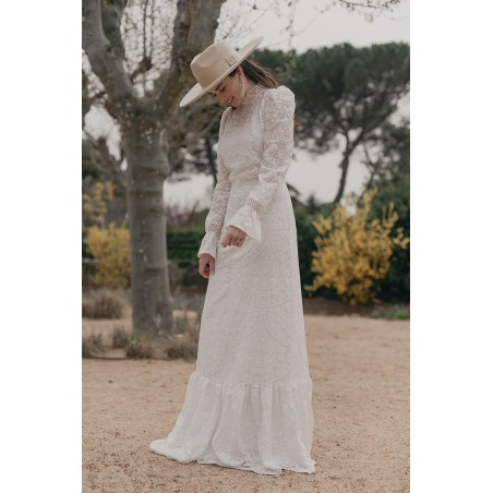 Colorado Wide Brim Felt Hat Beige - Bridal Hats - Wedding Hats UK - Felt Hat women's