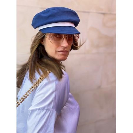 Firsherman Cap for Women Navy - Macy - Greek Fishermans Cap