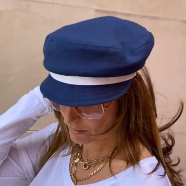 Gorro Pescador Mujer Azul Marino Raceu Hats - Greek Fisherman's Cap