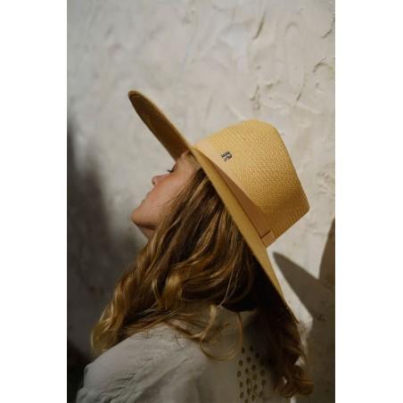 Large Brim Panama Hat CORFU Honey - Panama Hats UK for Women