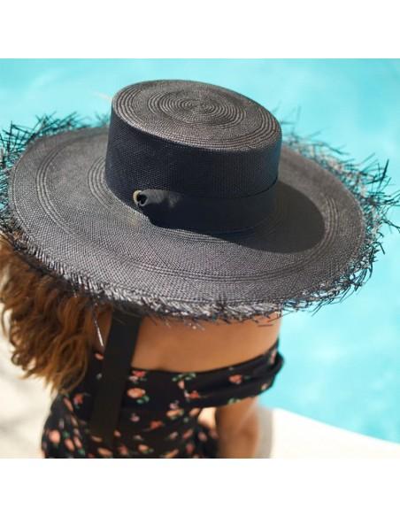 Sombrero Invitada Boda Ala Ancha Bardot - Sombreros Panamá Mujer