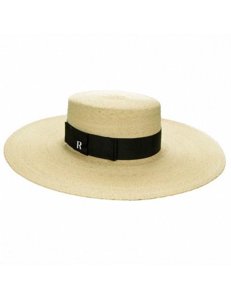 Sombrero Invitada Boda Canotier Ala Ancha Murano - Sombreros de playa