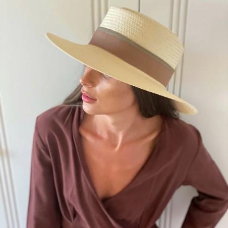 Sombrero Acapulco Invitada Boda Beige - Sombreros de Verano