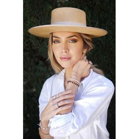 Padua Guest Wedding Panama Hat Camel - Panama Hats Boater Style
