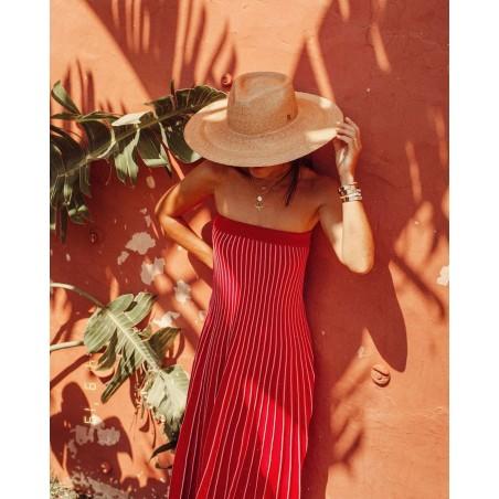 Sombrero Invitada de Boda Fedora Ala Ancha Amalfi