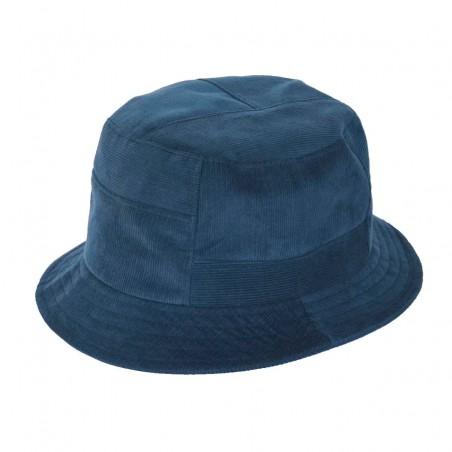 Sombrero de Copa Alta Carson color Azul - Sombrero Bucket 100% Algodón para hombre