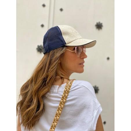 Gorra Béisbol Mujer en Color Beige Raceu Hats