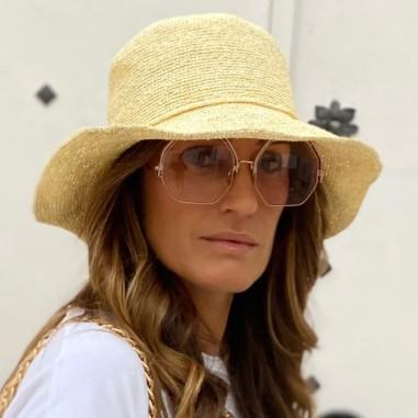 Shop Safari Straw Natural Hat in Colour Beige - Raceu Hats