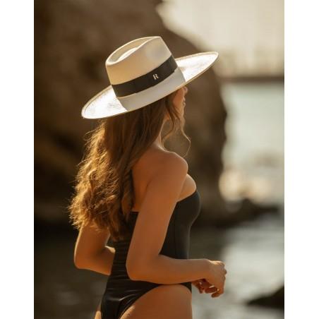 White Eva Wide Brim Panama Hat - Ladies Panama Hats