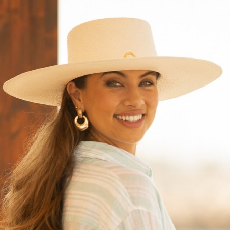 Ladies White Panama Hat made in Spain - 100% toquilla straw - Raceu Hats